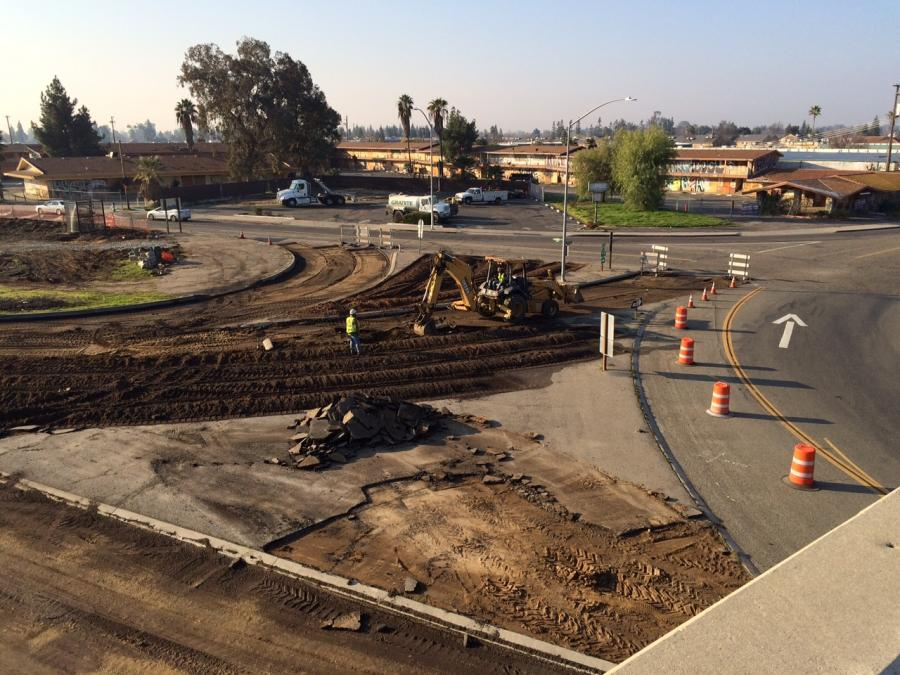 Caltrans, in partnership with the California High-Speed Rail Authority, has begun a $225.9 million project to realign State Route 99 in north Fresno to make way for new tracks for bullet trains.