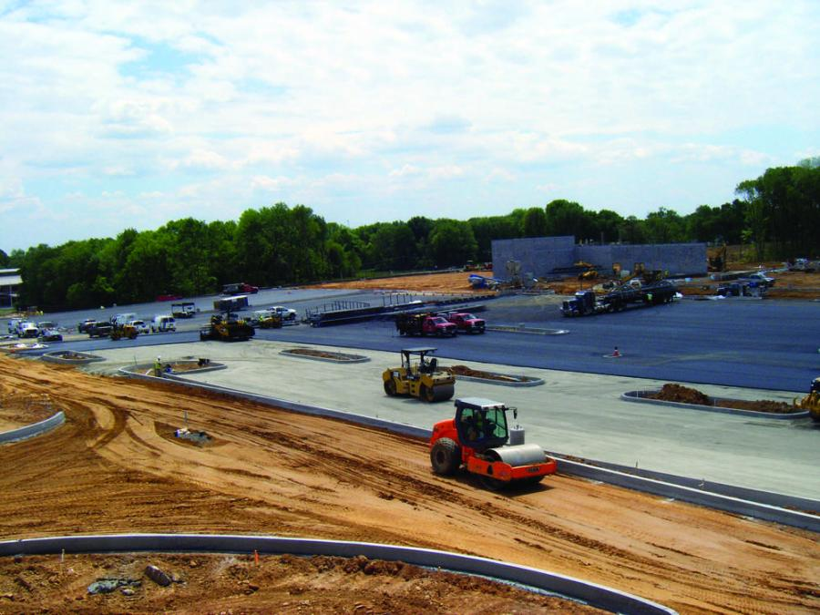 Schlouch's crews cover the 31-acre site for the Shoppes at Brookhaven in Delaware County with services ranging from earthwork, to concrete and paving.