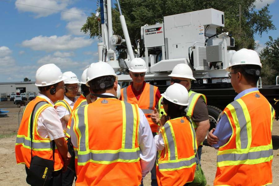 During their visit, participants discussed grid maintenance practices and learned about equipment appropriate for these applications.