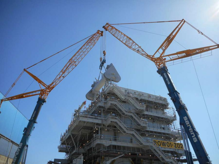 Sarens Enlists Two Terex Ac 700 Cranes For Heavy Tandem