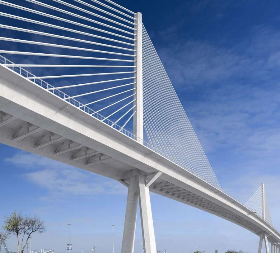 The six-lane structure with shoulders is scheduled to be complete in 2021 for about $930 million.