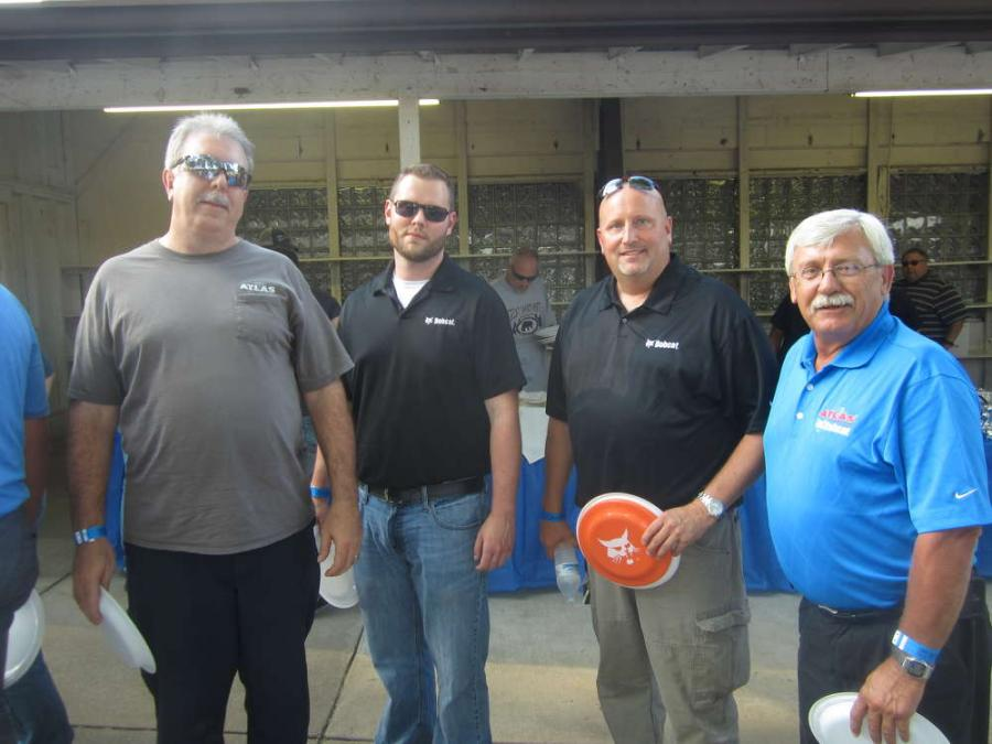 (L-R): Bruce Kattalia, Steve Herbert, Jeff Holmes and Mike Bukowski represent Atlas Bobcat at the event.