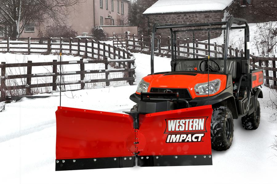 Built specifically for UTVs, the IMPACT V-plow features fully enclosed hydraulics and double-acting 1 in. (2.5 cm) angle cylinders that allow wings to operate independently or be locked for efficient straight blade operation and clean back dragging.