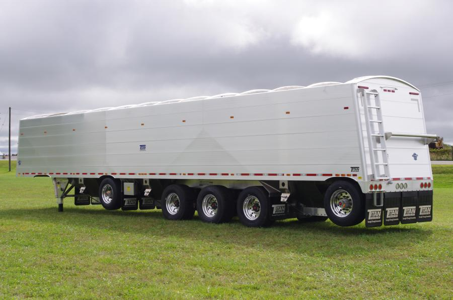 A new line of agricultural hopper trailers from Titan Trailers introduces a unibody design that increases overall strength while increasing load capacity by more than 2,000 lbs. (907 kg).