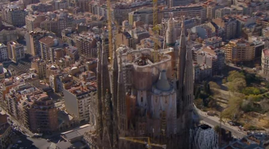 Though the original architect - Antoni Gaudí - died over 90 years ago, aside from a ause during the Spanish Civil War, construction has been constant.