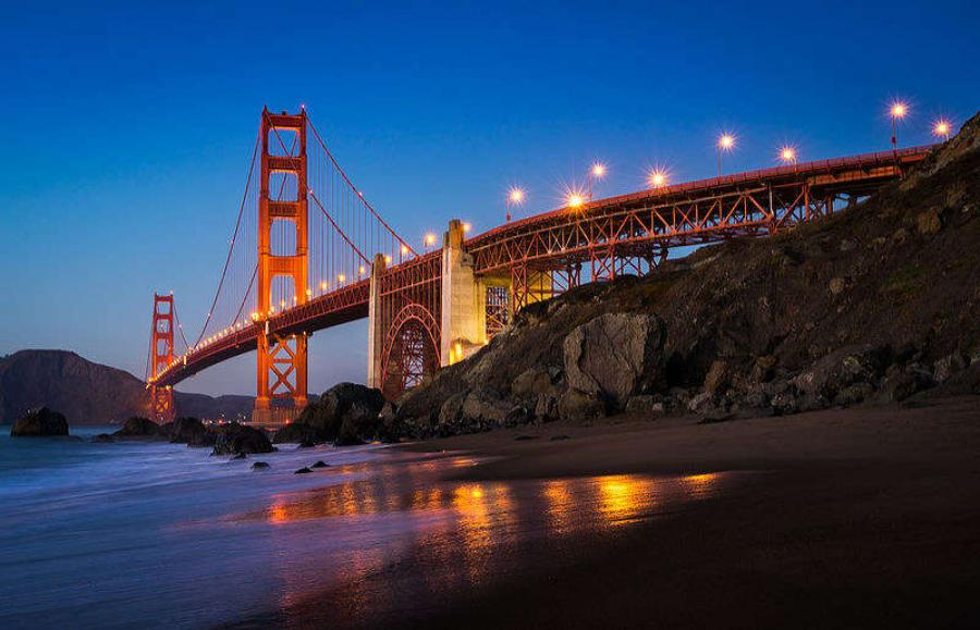 Image courtesy of 	Ryan J. Wilmot. The Golden Gate at night.