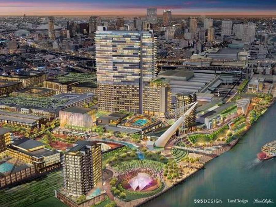 An artist's rendering of the proposed Trade District.Photo: Ernest N. Morial Convention Center