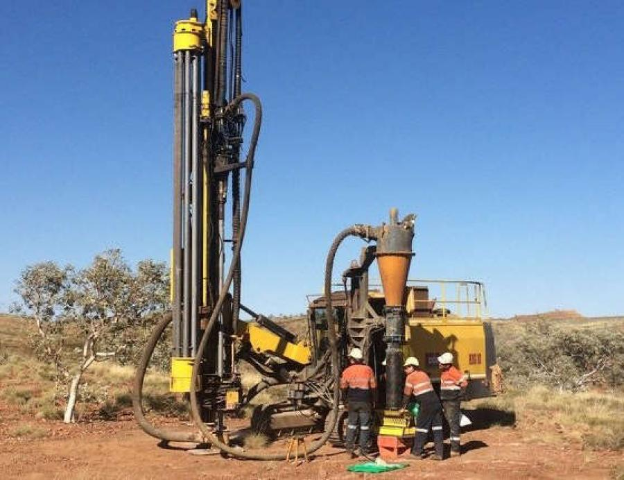The Atlas Copco ROC L8-64 RC Drill in the Australian outback.