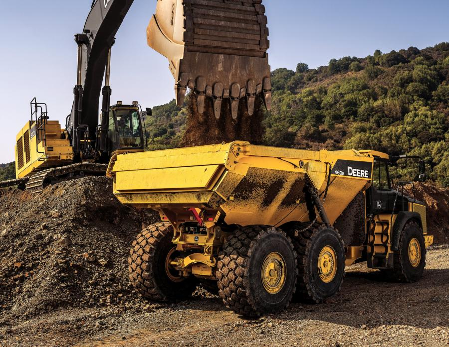 The 460E is the largest ADT in the John Deere lineup.