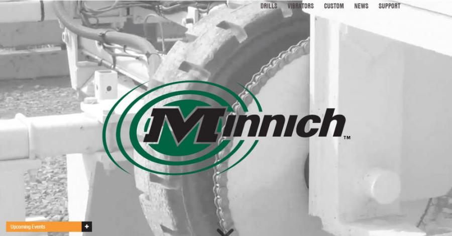 Responsive design and simplified navigation make the bold new Minnich website easy for contractors to use on any device.