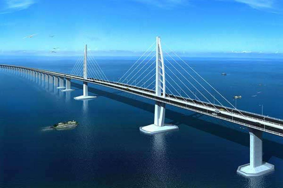An artists's rendering of the Zhuhai-Macao Bridge.