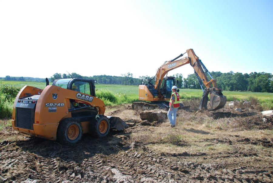 The training included course work, and then practical operation in laying riprap for erosion control and spreading topsoil to encourage growth of the natural habitat for wildlife at Blackwater National Wildlife Refuge (NWR) in Cambridge, MD.