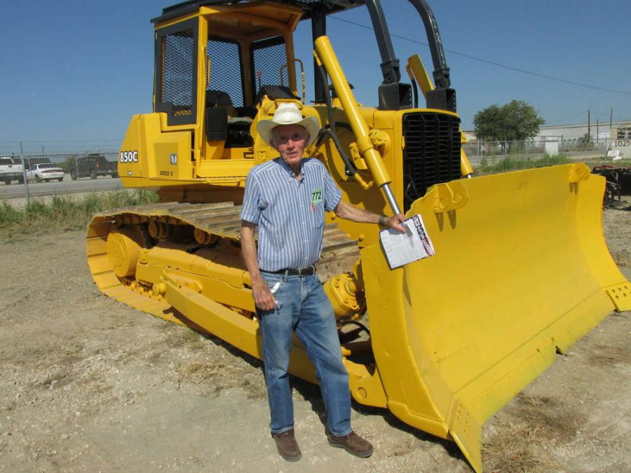 John Morgan, an independent contractor from Grand Prairie, Texas, is very interested in this John Deere 850C dozer.