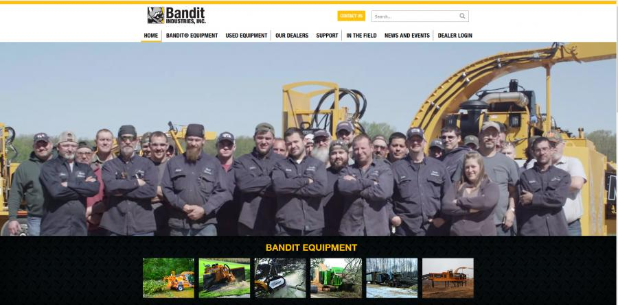 The new banditchippers.com also emphasizes a stronger visual experience for visitors.