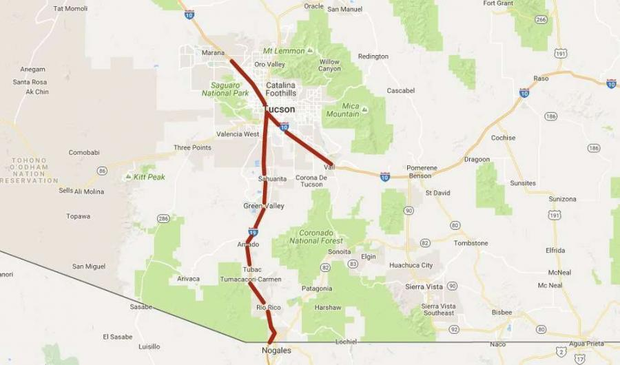 The pilot program applies to I-10 between mileposts 232 and 279 in Tucson and Marana, Interstate 19 between Tucson and Nogales, and Business 19 in Nogales.