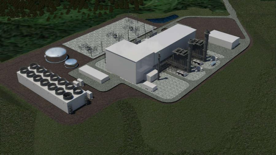 Rendering of the 925-megawatt Tenaska Westmoreland Generating Station set to open in 2018.