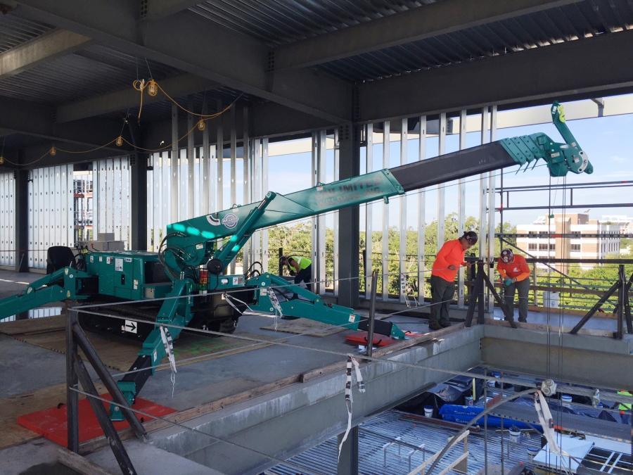Contractor Scores Big With Mini-Crane on Stadium Job ...