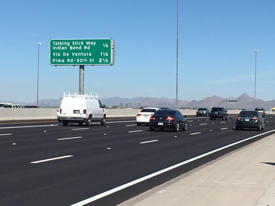 Major work is complete on the Arizona Department of Transportation's $73 million Loop 101 widening project in the East Valley.