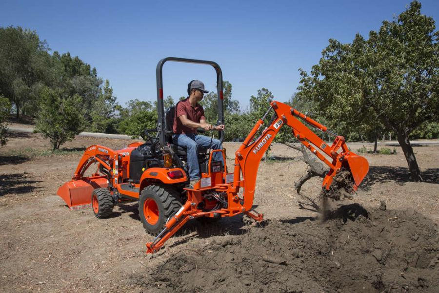 Kubota's BX80-Series has four models, including the BX23S, which leads the sub-compact tractor class as a standard-equipped loader-backhoe unit.