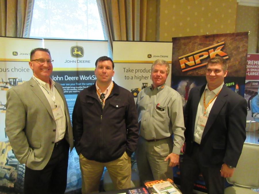 (L-R): Marty Hlawati and Craig Cotter, both of Murphy Tractor & Equipment Company; Ken Skala, NPK; and Ted Crane, Murphy Tractor & Equipment Company, attend the OAIMA meeting.