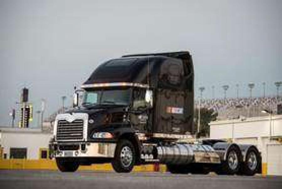 "Mack Trucks is nearing the finish line in its first full season as the ""Official Hauler of NASCAR."""