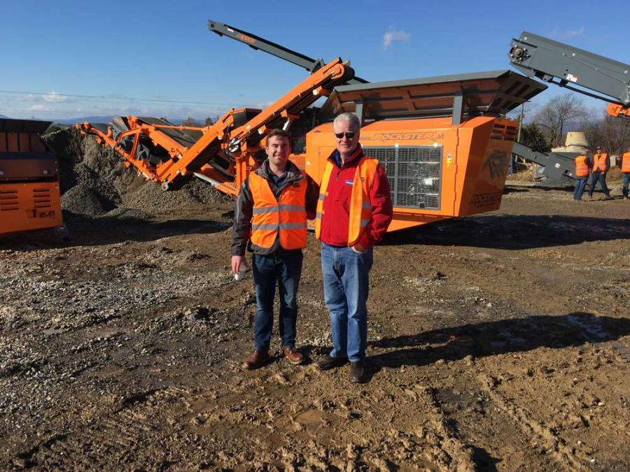 Colin Chenet (L) and Bill Barry, both of CC&T in Folcroft, Pa., liked the compact design of the Rockster product line.
