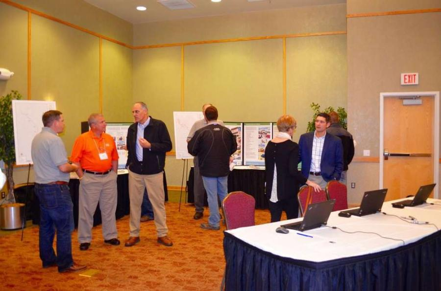 Visitors to the expo could speak with representatives from Spring Ridge Constructors about the Atlantic Coast Pipeline project.