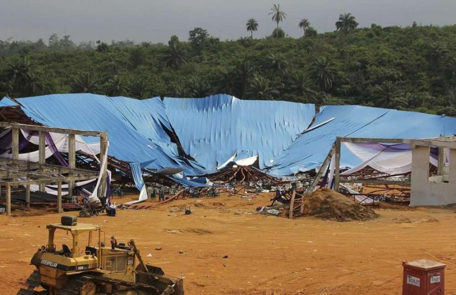 Mortuaries on Sunday overflowed with the bodies of at least 160 people killed in the collapse of a southern Nigeria church building.