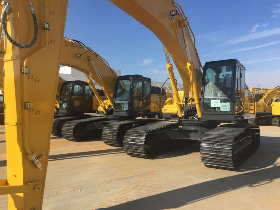The KOBELCO SK350LC-10 is among the first Generation 10 models to be produced at the new North American manufacturing facility.