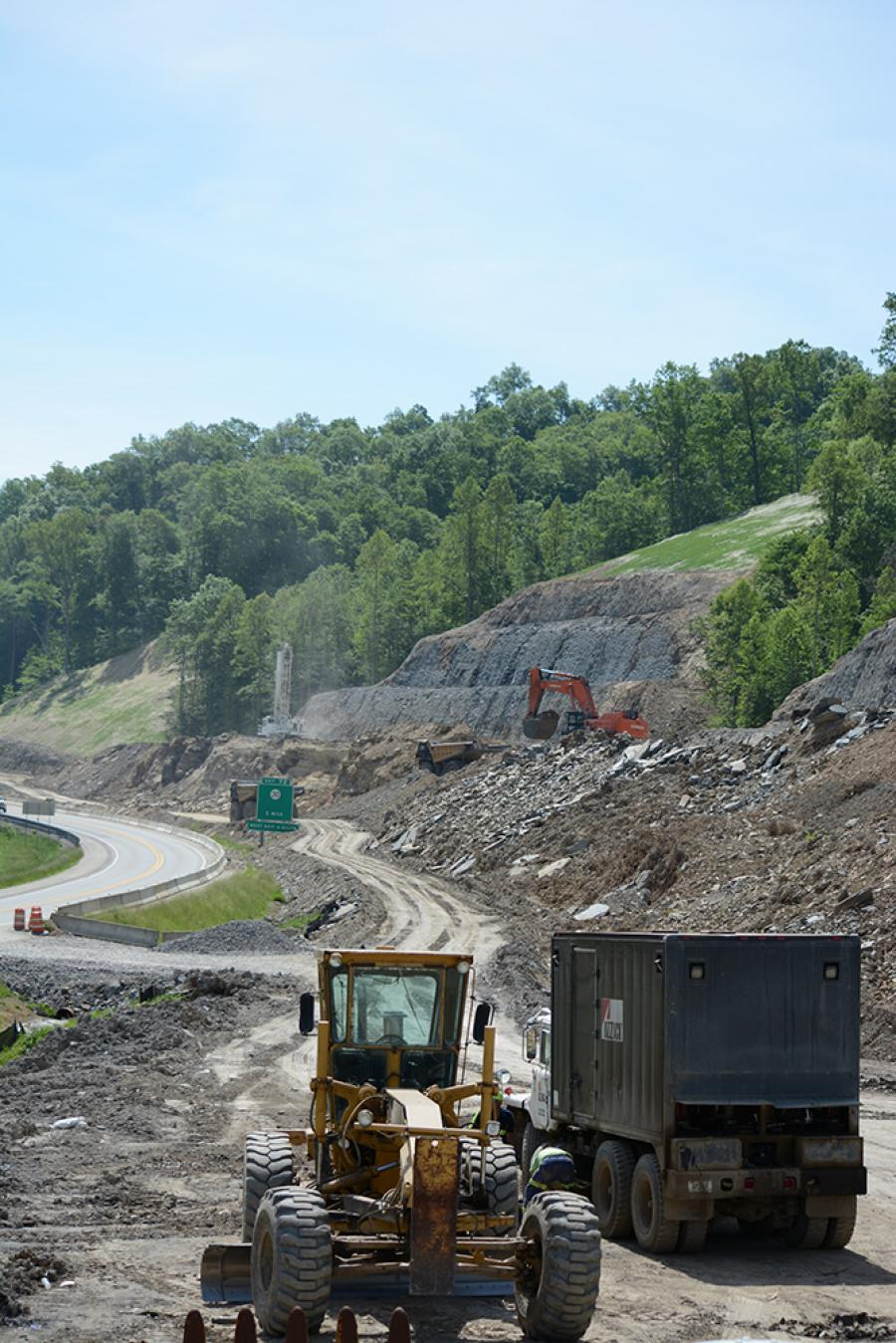 The Kentucky Transportation Cabinet's (KYTC) multi-year Mountain Parkway Expansion is in full swing.