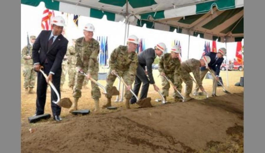 Military officials at Fort Gordon in east Georgia have broken ground for the future headquarters of the U.S. Army's cyber operations. (Augusta Chronicle photo)