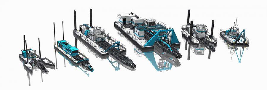 DSC's base dredges include six different model lines, designed for different basic applications, which are further customized for specific customer requirements.