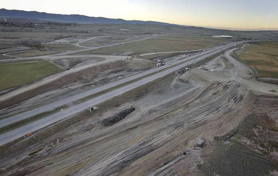 Construction will continue on the new interchange on I-90 north of Sheridan during the winter months.