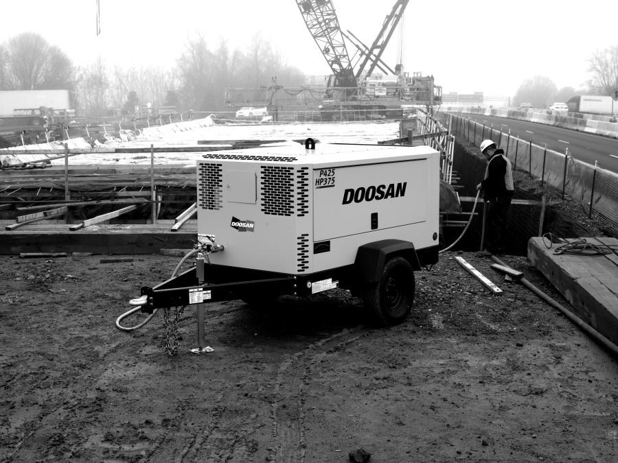 Doosan air compressor.