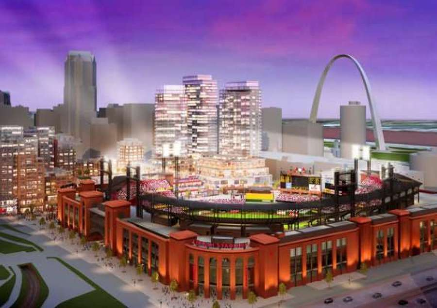 Artist rendition of ballpark village. http://url.ie/11ngr