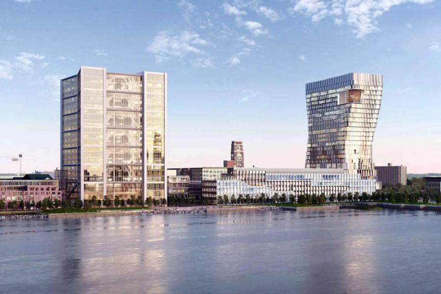Robert A.M. Stern rendering The renderings for the Camden Waterfront Master Plan have changed significantly since last year.