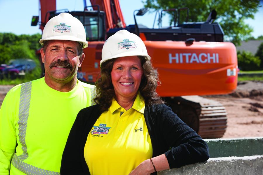 Owners Joe and DeAnne DeNoble of Joe DeNoble Sewer & Water.