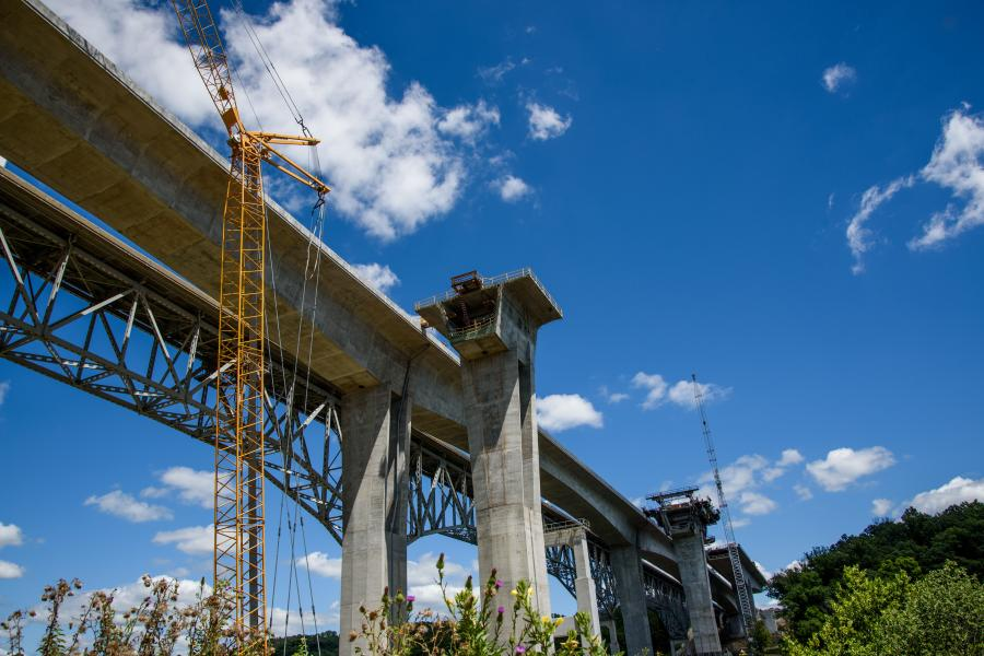Only minor work remains to complete an $88 million project on the Jeremiah Morrow Bridge in Warren County, Ohio.