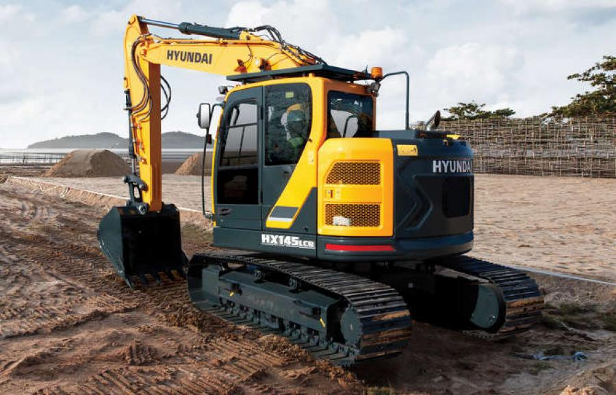 Hyundai HX145LCR excavator.