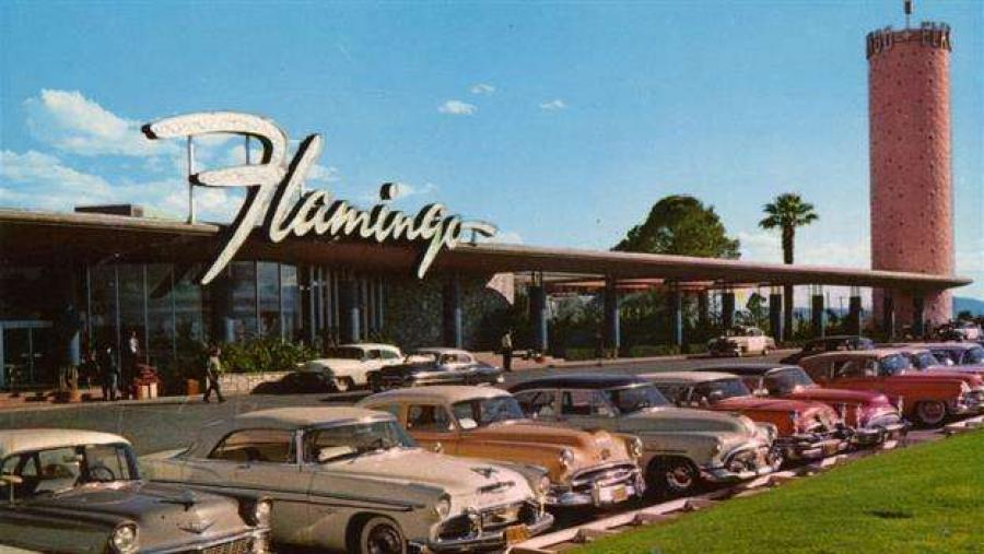 "On 26 December 1946, in Las Vegas, Nevada, mobster Benjamin ""Bugsy"" Siegel opened The Pink Flamingo Hotel & Casino at a total cost of six million dollars."