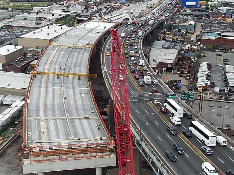 The 77-year-old bridge is in rough shape. Every day, more than 160,000 cars and trucks travel across its broken asphalt and exposed steel decking, over a steep archway.