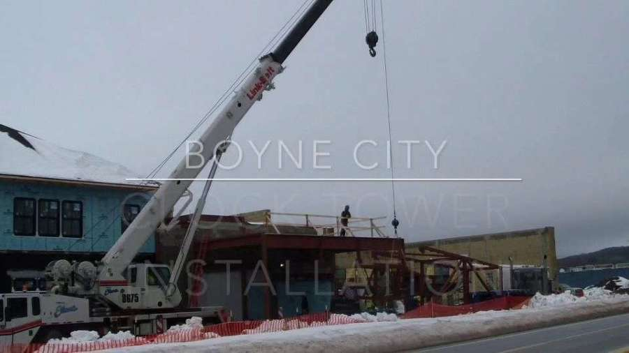 Construction began on the new clock tower on Jan. 18th, 2017.