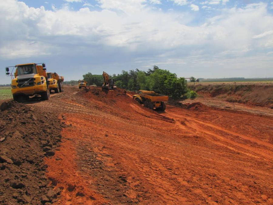 A $20 million road widening and bridge replacement project is under way on U.S.183 in Woodward County, Okla.