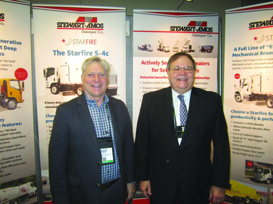 Frank Chulick (L), president, and John Paraschak, both of Stewart-Amos Sweeper Co.