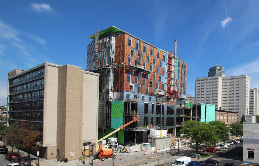 Andrew Hurlbut photo  Construction of the center began in May 2015, and a temporary occupancy permit is expected in April 2017.