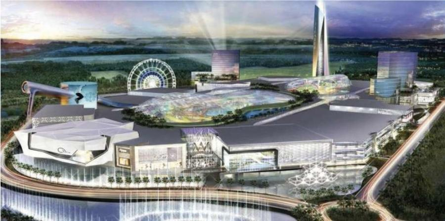 Artist rendering of the proposed mega mall. http://url.ie/11o35.