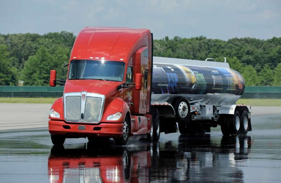 Bendix(R) ESP(R) Electronic Stability Program is now standard on new Kenworth T680 (shown here) and T880 tractors.