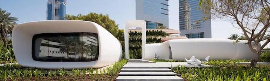 A 3D-printed office in Dubai- 3D Printhuset.