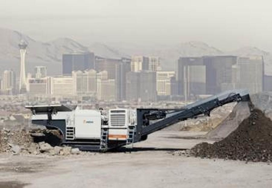 Metso Lokotrack Urban series mobile crushing plant.