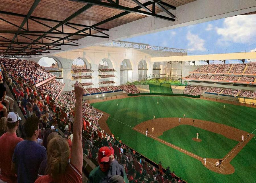 The design for the new ballpark will include a retractable roof for climate control and shelter for fans during the hot summer months.